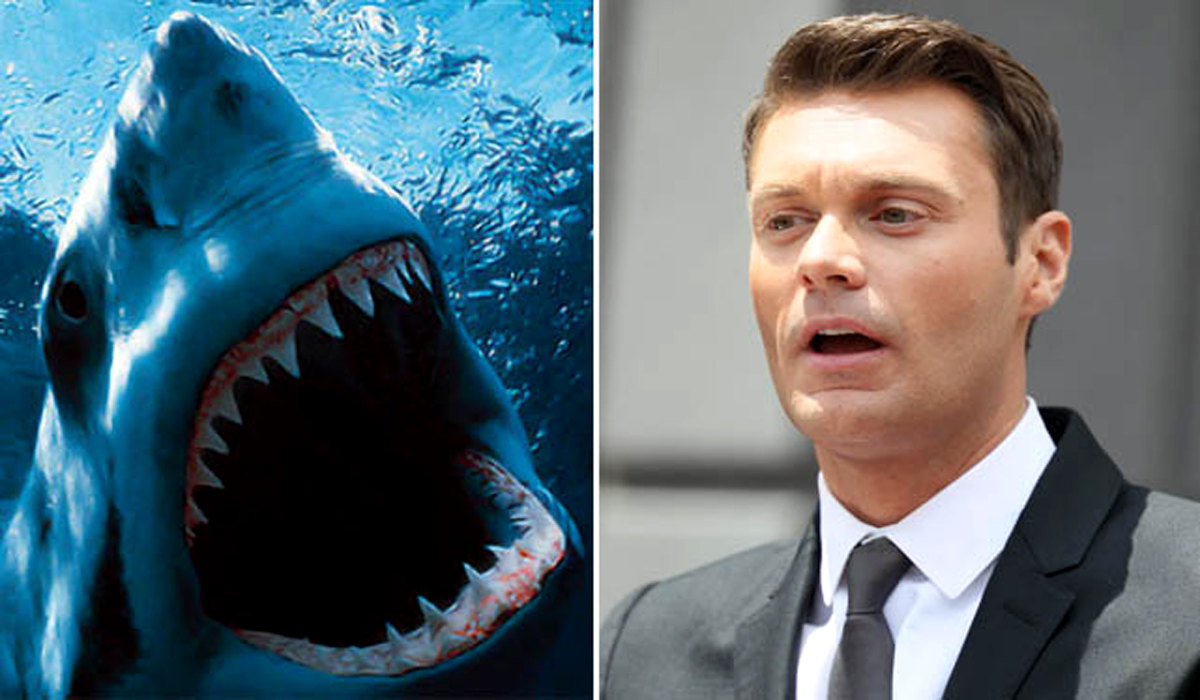 "Perhaps the overly amorous shark that <a href=""http://www.celebuzz.com/photos/ryan-seacrest-celeb-vs-wild-10-stars-attacked-b"