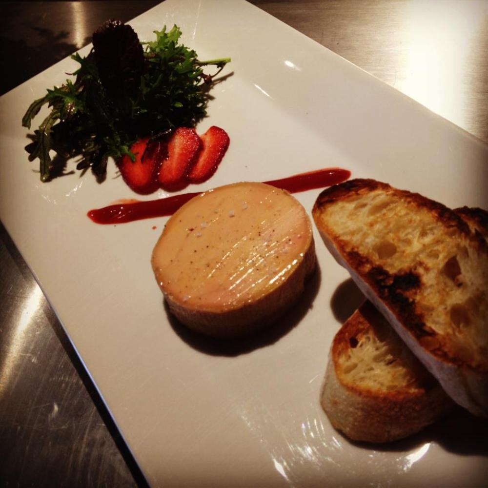 This new-ish nouveau French bistro in Hollywood offers a foie gras supplement to its prix fixe menu more or less every night.