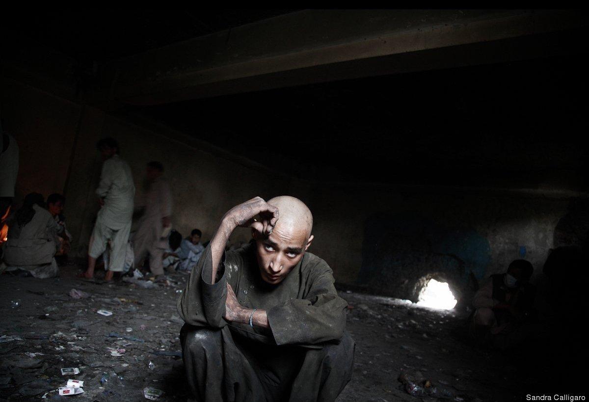 Mussa Ahmadi, an 18-year-old heroin addict in Kabul. Photo: Sandra Calligaro