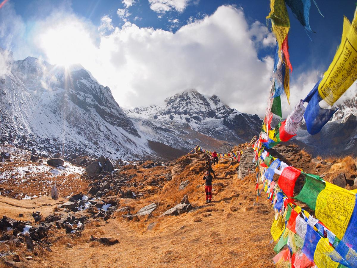 Location: Nepal   <br><br> Range: Himalayas <br><br>  Elevation: 26,545 ft