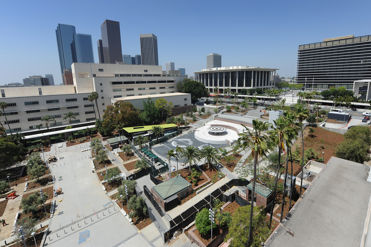Construction progress of Grand Park as of May 15, 2012.