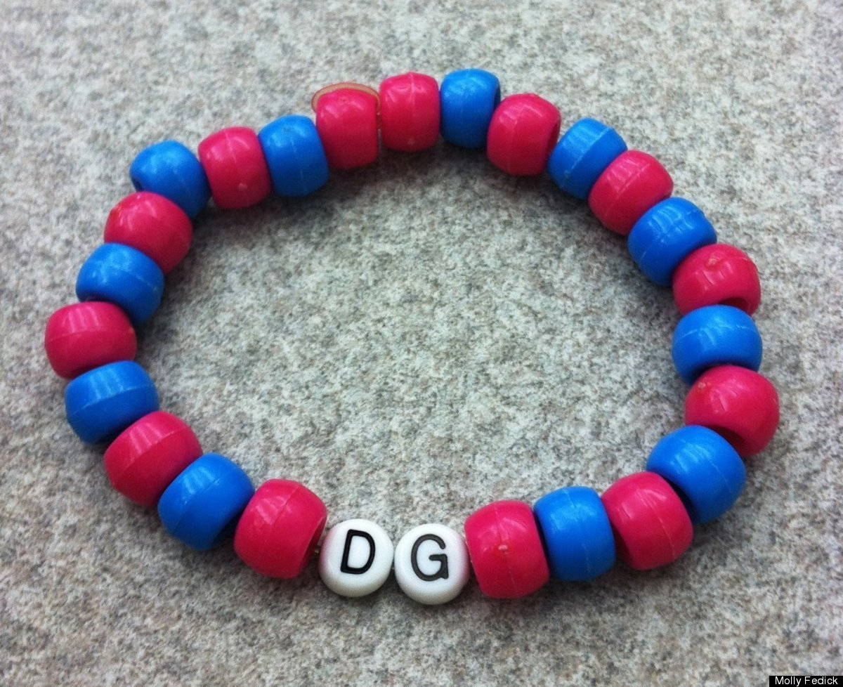 """<strong>""""My charm is a bracelet I made during my sorority's pledge period. We made the bracelets out of cheap plastic beads i"""