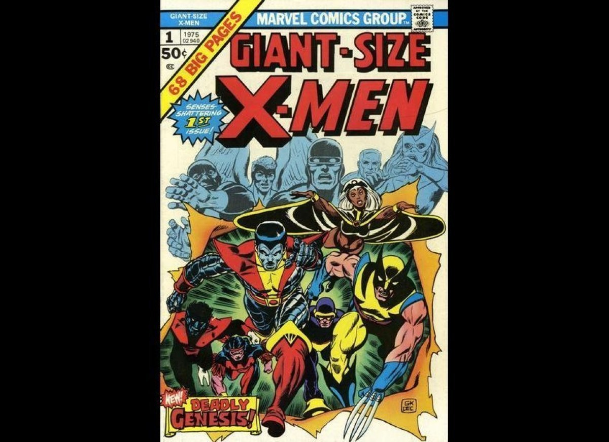 "Gil Kane's powerful cover is an expert manifestation of ""out with the old, in with the new"" as the new members of the X-Men a"