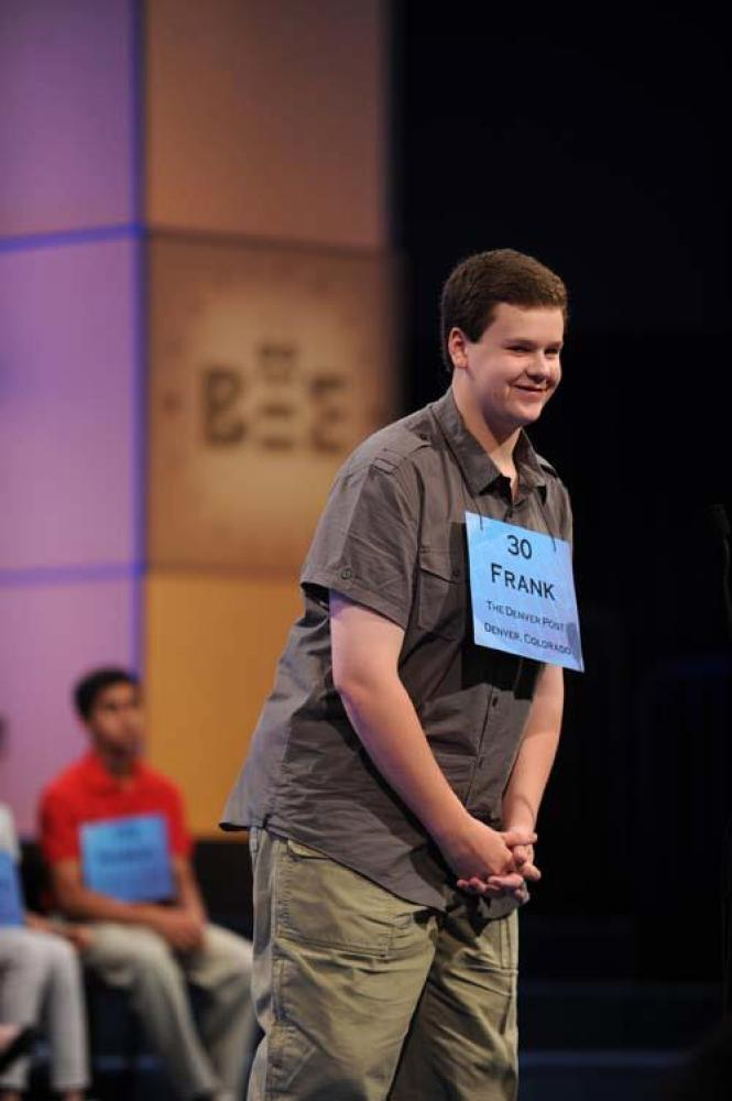 Frank Cahill, 14-year-old Parker, Colo boy in championship round.