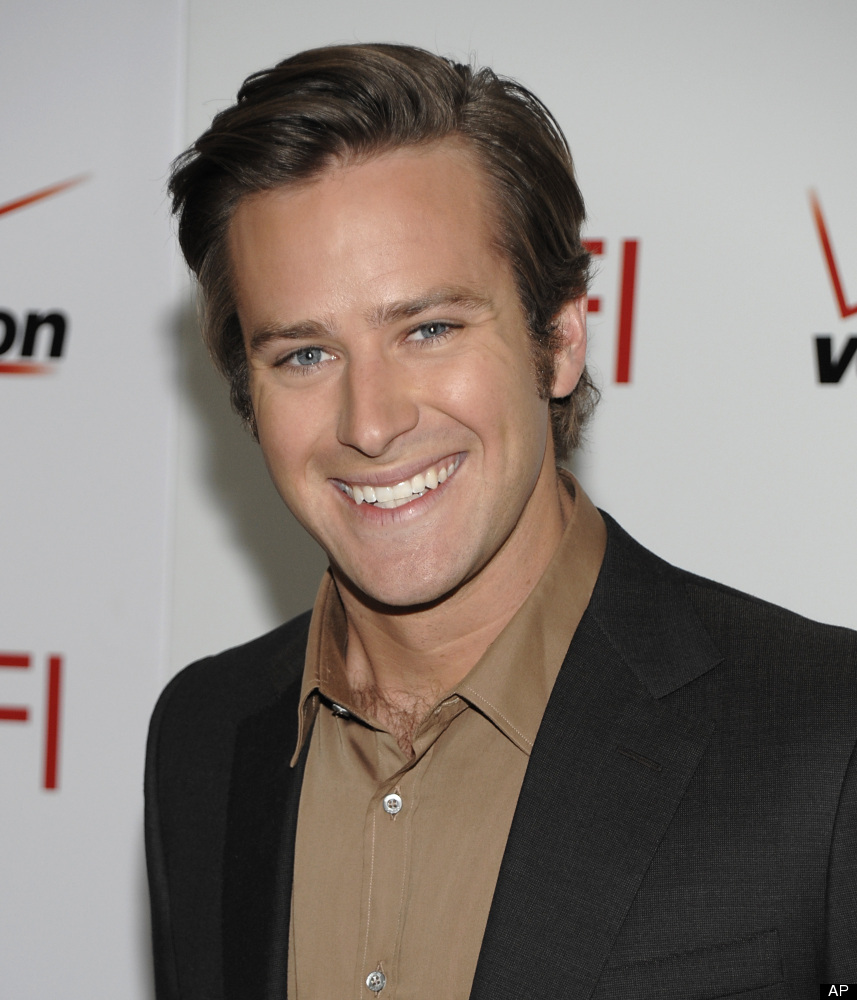 "Up-and-coming young actor Armie Hammer got his break playing the Winklevoss twins in ""The Social Network"" and is currently fi"