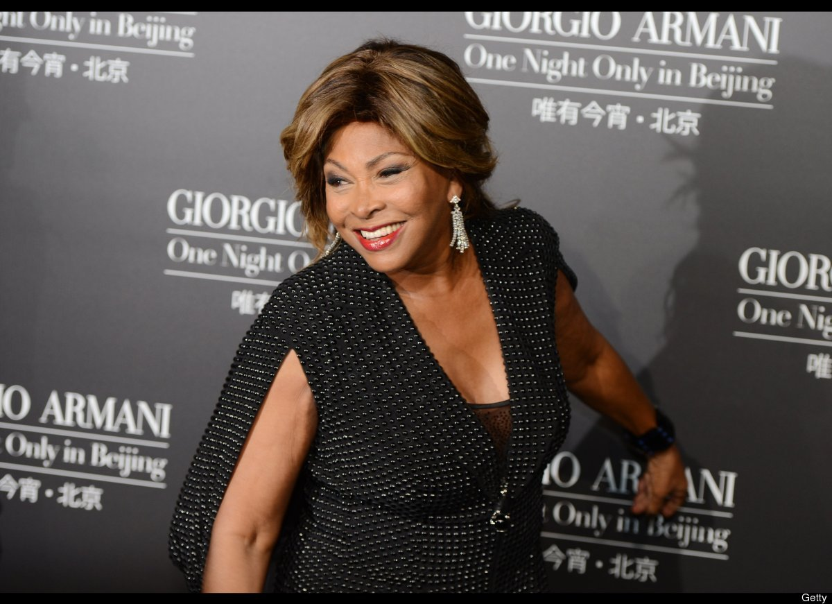 This picture taken on May 31, 2012 shows singer Tina Turner arriving on the red carpet for the fashion show by 77-year-old de