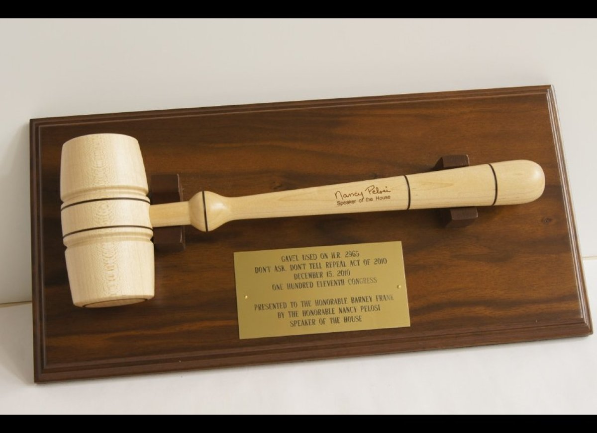 The Stonewall National Museum & Archives has on display the gavel used by Speaker of the House Nancy Pelosi to mark the repea