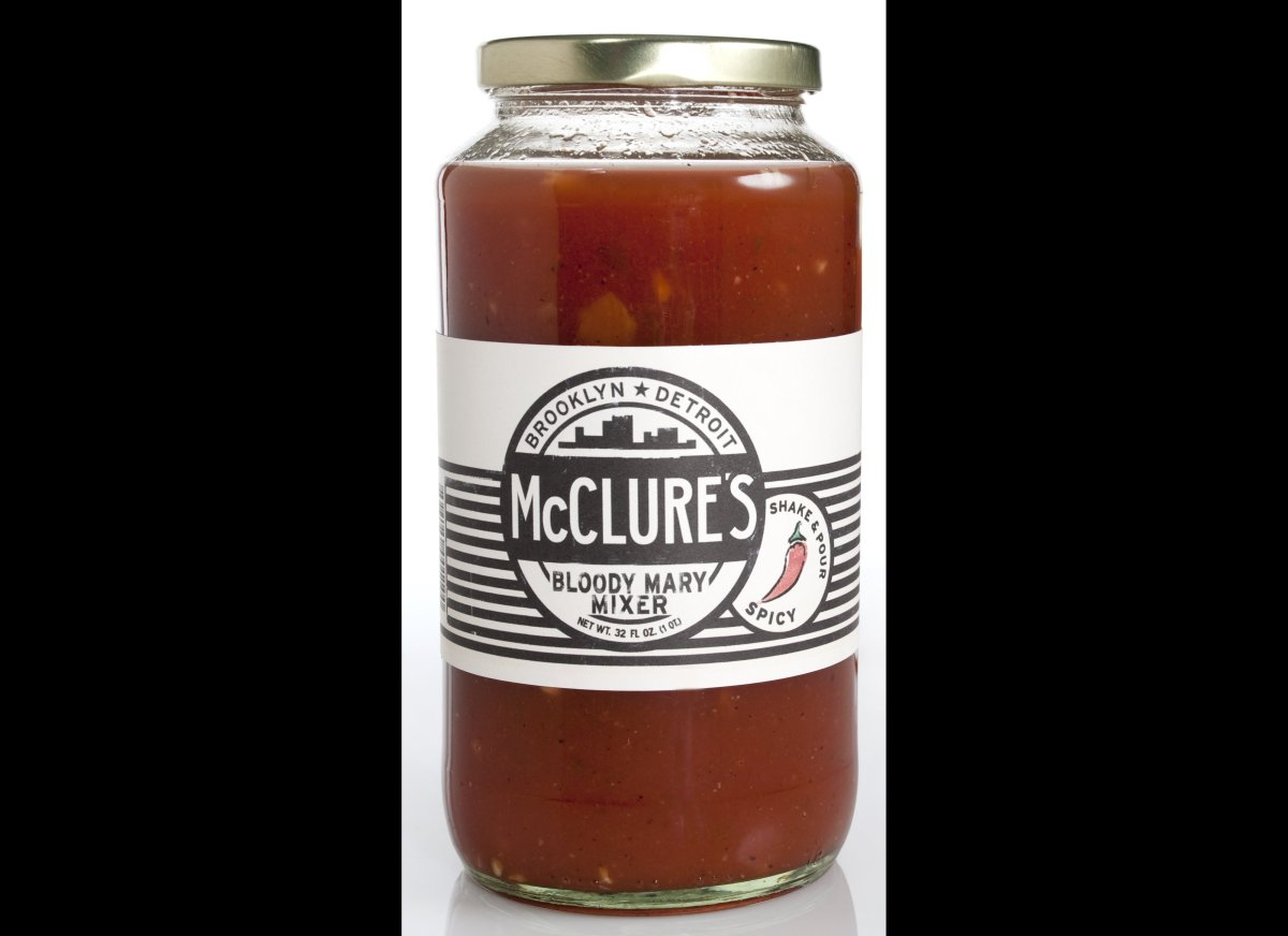 "<strong><a href=""http://www.mcclurespickles.com/"" target=""_hplink"">McClure's Spicy Bloody Mary Mix</a></strong>