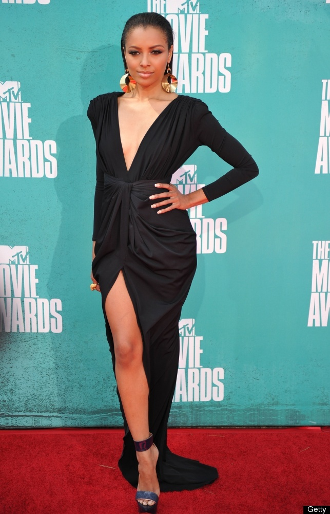Actress Kat Graham arrives at the MTV Movie Awards at Universal Studios, in Los Angeles, California, on June 3, 2012.  AFP PH