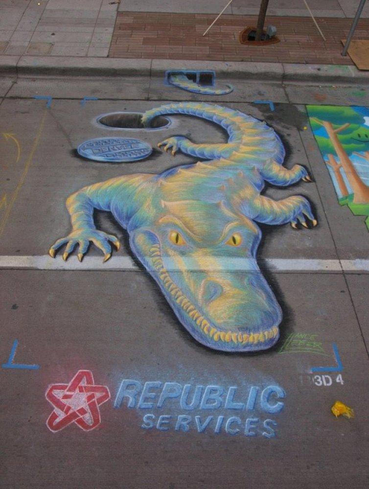 """Image via <a href=""""http://www.facebook.com/denverchalkart"""" target=""""_hplink"""">Denver Chalk Art Festival's Facebook page</a>."""