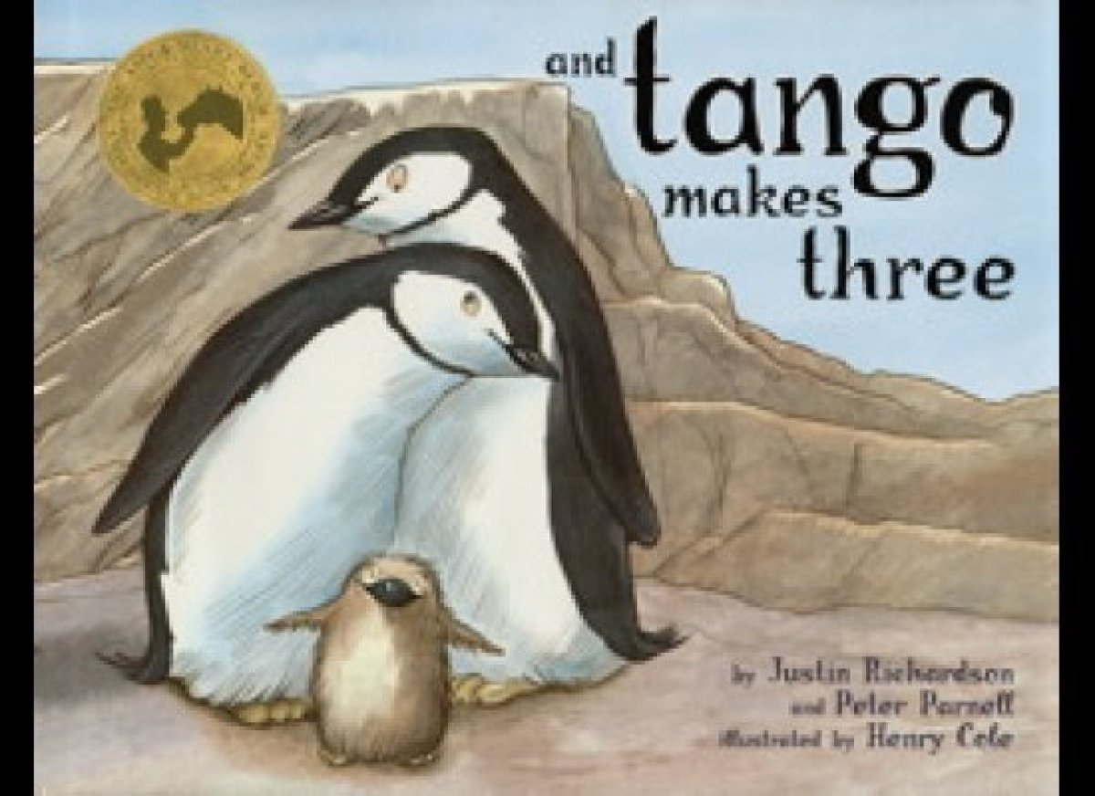 This 2005 children's book, written by Peter Parnell and Justin Richardson and illustrated by Henry Cole, tells the story of t