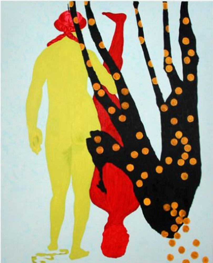 Thomas Lawson. Red Menace, 2009. Oil on canvas. 72 x 60 in. (182.9 x 152.4 cm). Courtesy the artist and David Kordansky Galle