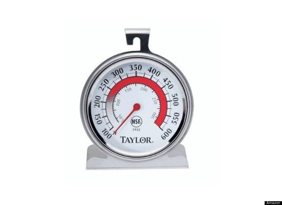 This oven thermometer doesn't have any fancy bells or whistles, but it is reliable and sturdy. It has big printed numbers mak