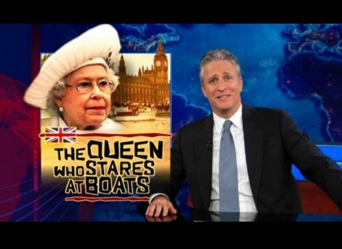 "Jon Stewart just cannot get enough of CNN's Diamond Jubilee coverage. [<a href=""http://gtcha.me/Ku4sSZ"" target=""_hplink"">WATC"