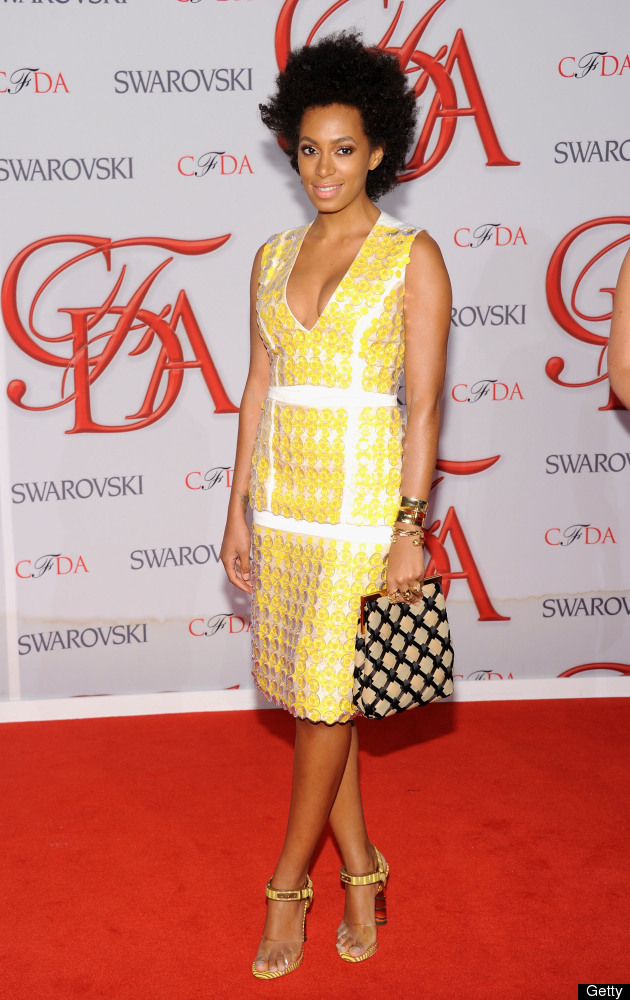 NEW YORK, NY - JUNE 04:  Solange Knowles attends the 2012 CFDA Fashion Awards at Alice Tully Hall on June 4, 2012 in New York