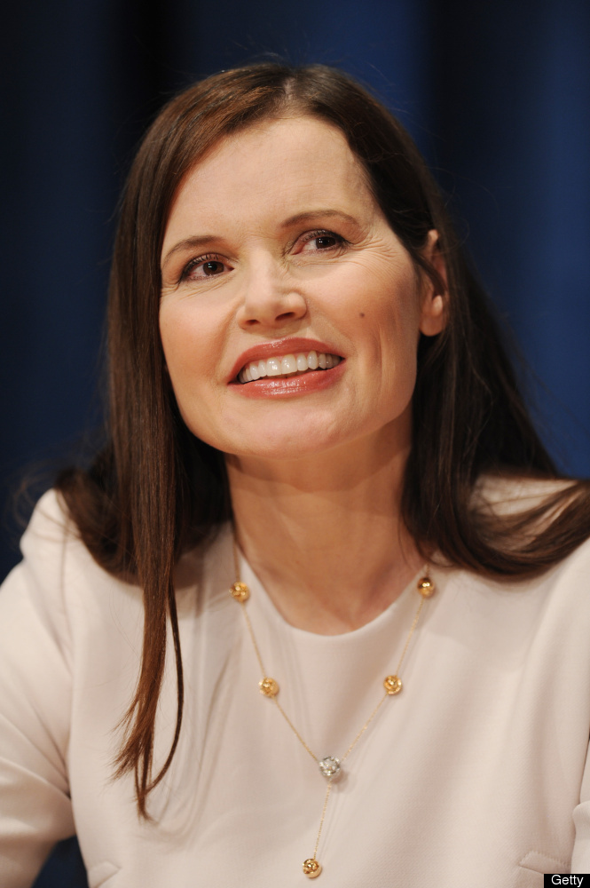 Geena Davis at a press conference for the event 'Engaging Philanthropy to Promote Gender Equality and Women's Empowerment' in