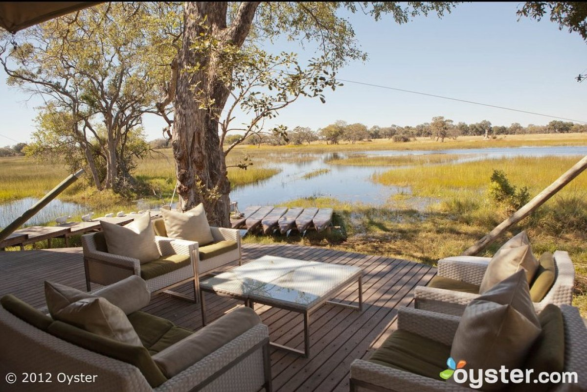 It doesn't get much more unplugged than this. This ultra-remote, luxurious safari lodge on an island in Botswana's Okavango D