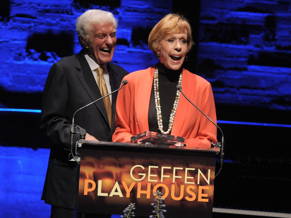 """In this image provided by Geffen Playhouse, Dick Van Dyke and Carol Burnett attend the """"Backstage At The Geffen"""" Fundraiser o"""
