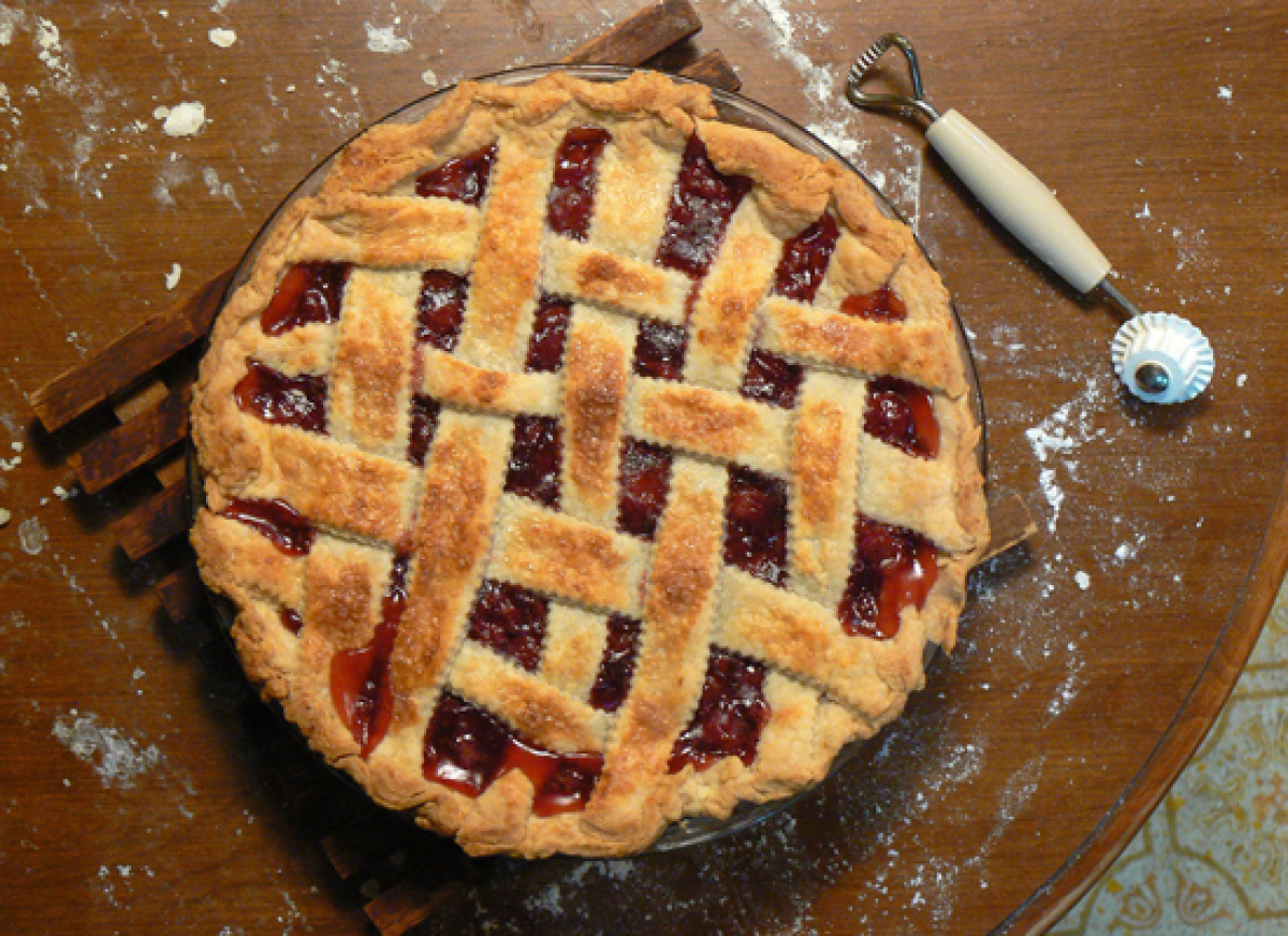 """It might fit nice and snug, but a pie gets just as golden brown in the toaster oven as it does in a conventional one.  """"Hom"""