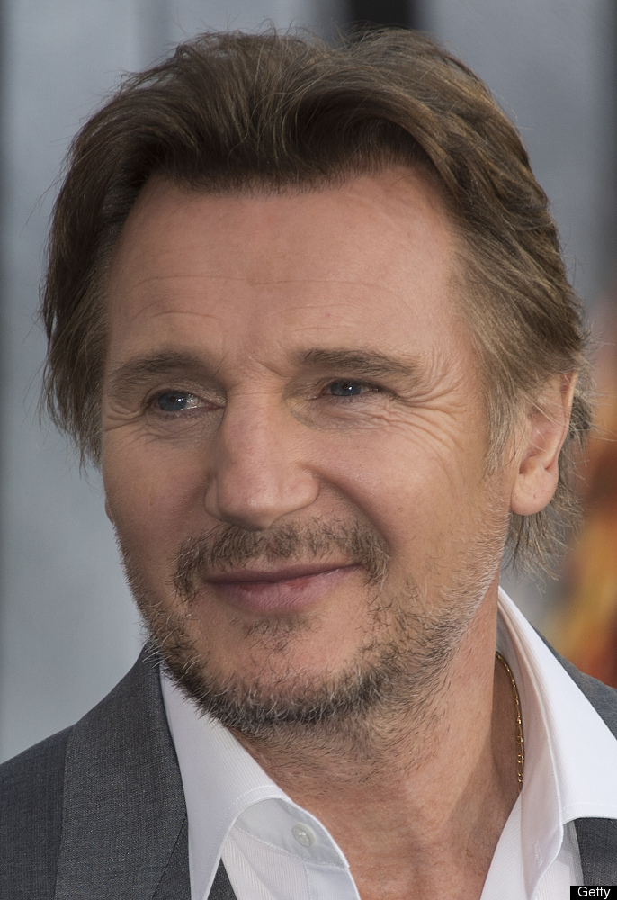 Liam Neeson arrives for the premiere of 'Battleship,' in 2012.