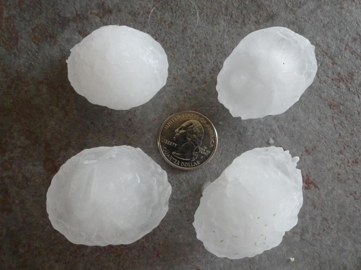 """Hail reportedly seen in Parker.  Photo via <a href=""""http://www.facebook.com/photo.php?fbid=10150943958339629&set=p.10150943"""