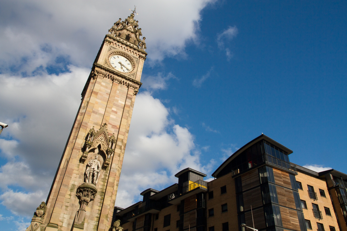 Belfast, reaching for the sky.  <em>Photo: Didrik Johnck</em>