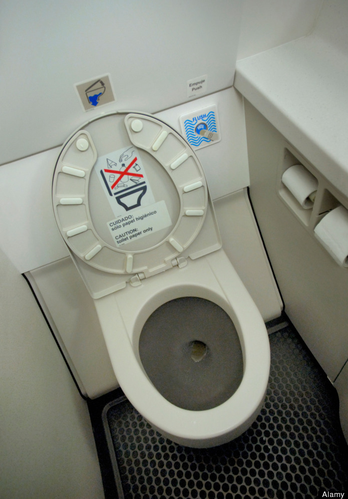 Since the lav isn't usually sanitized between flights, it can see hundreds of users before getting a good scrub down.
