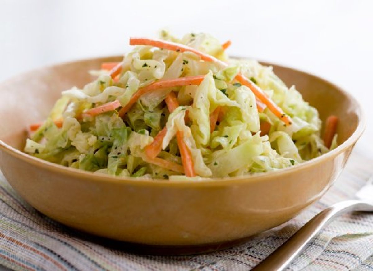 This homemade coleslaw has a bit of French flair from white wine vinegar, Dijon mustard and creme fraiche instead of sour cre
