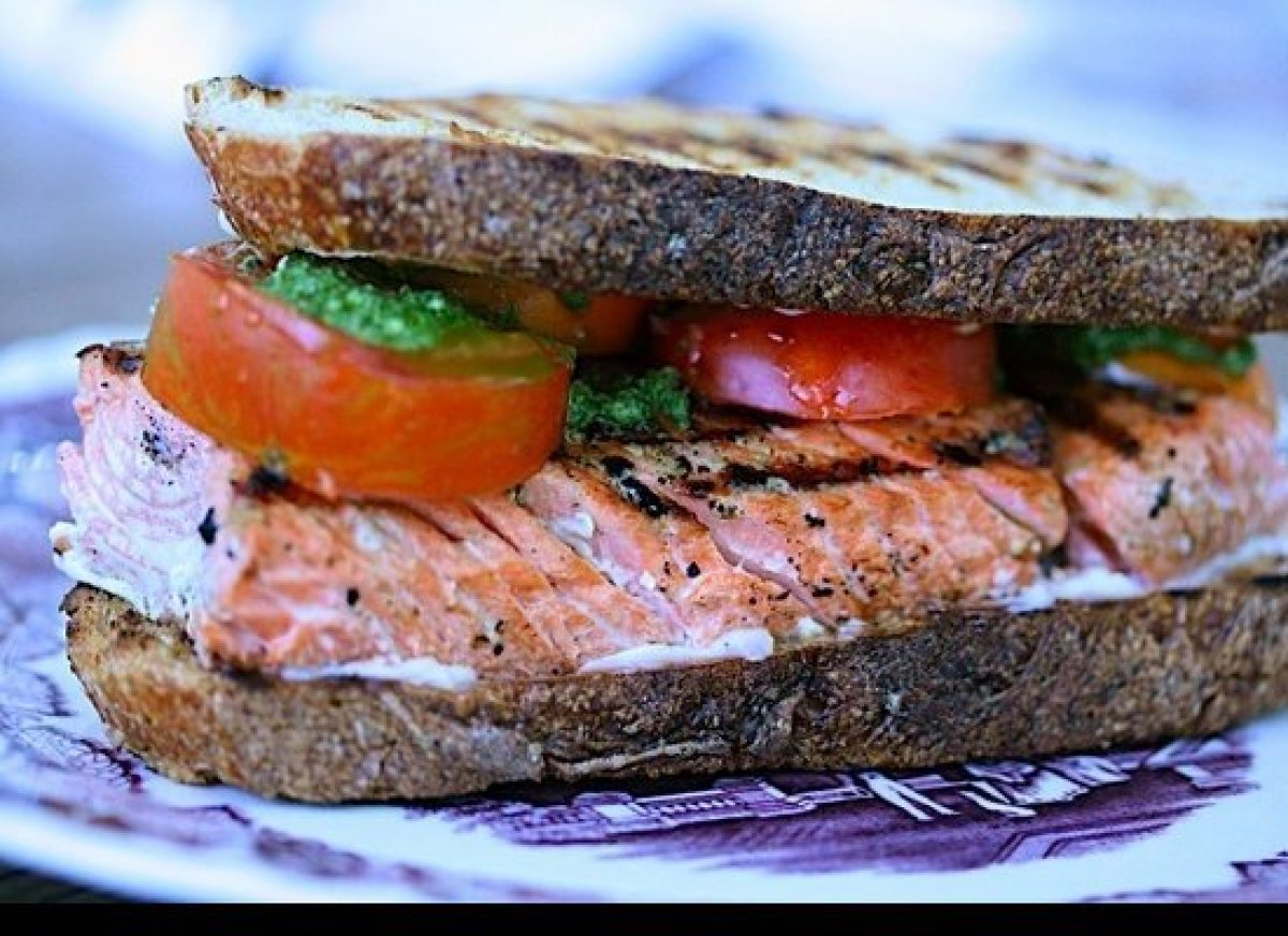 Salmon is full of fat (the good kind!), and it takes very well to the grill. The fish becomes rich as it cooks, even as it st