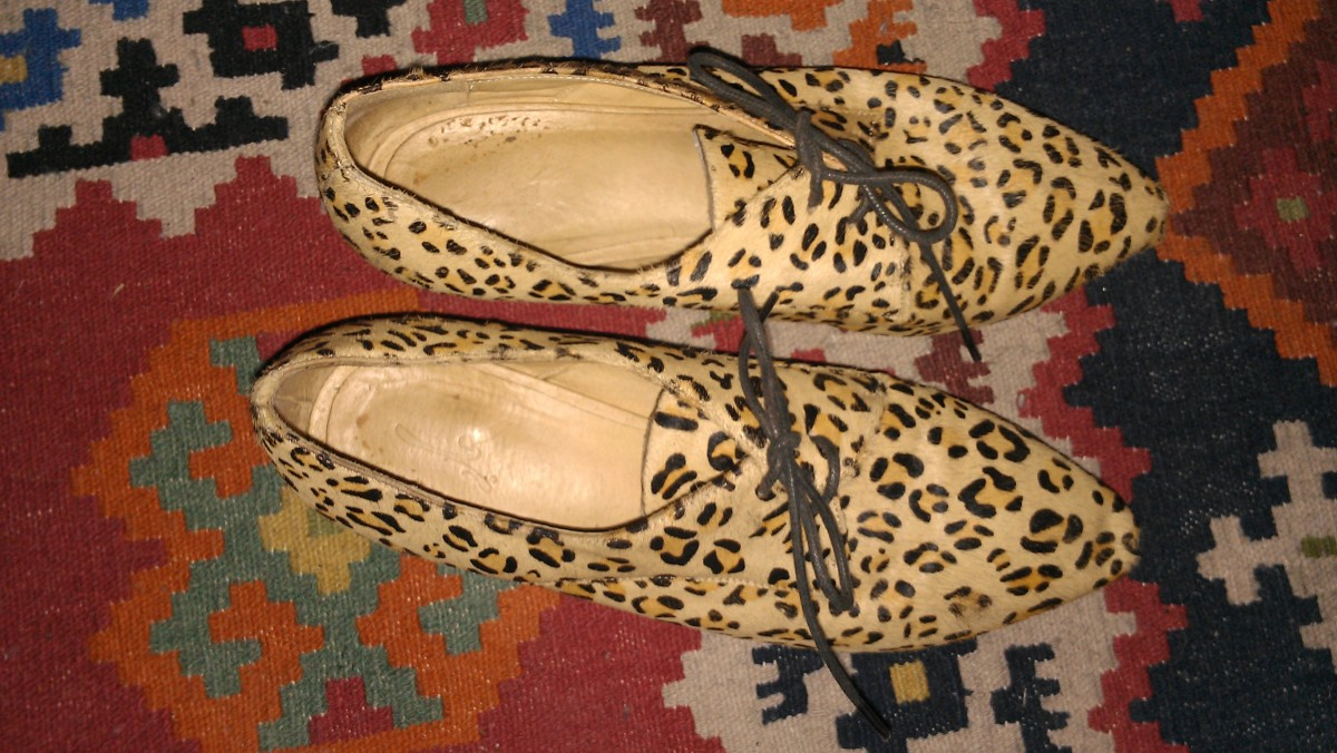 "Rebecca, HuffPost Style associate editor: ""I picked up these furry leopard brogues at Galleries Lafayette during the annual s"