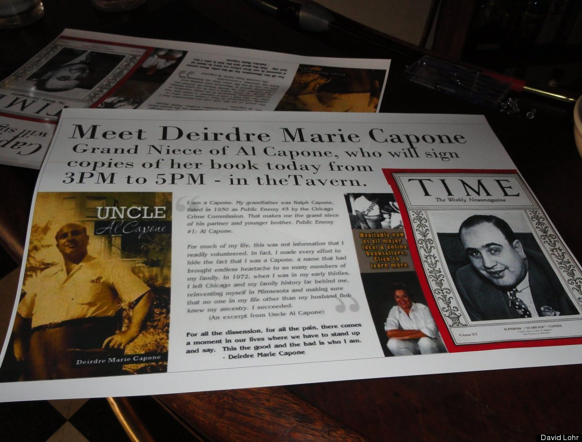 """Deirdre Marie Capone, grandniece of infamous American crime czar Al """"Scarface"""" Capone, has authored a tell-all book, """"Uncle A"""