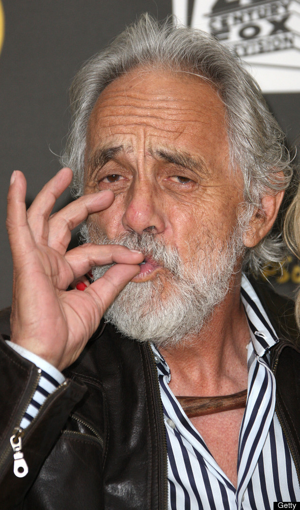 HOLLYWOOD, CA - FEBRUARY 13: Actor Tommy Chong attends FOX's 'The Simpsons' 500th Episode Celebration at the Hollywood Roosev