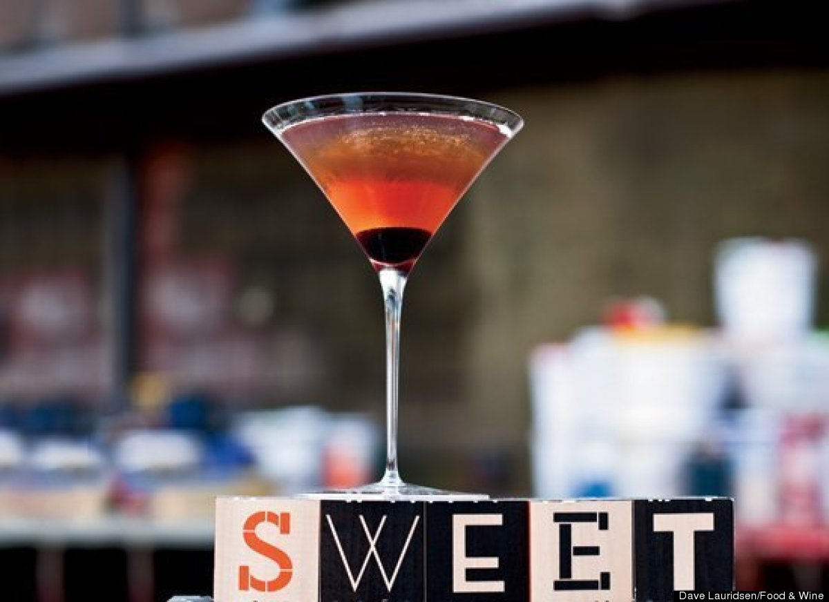 You don't need a swagger to feel like you're cool when you have a classic Manhattan in hand. Whiskey, sweet vermouth and ango