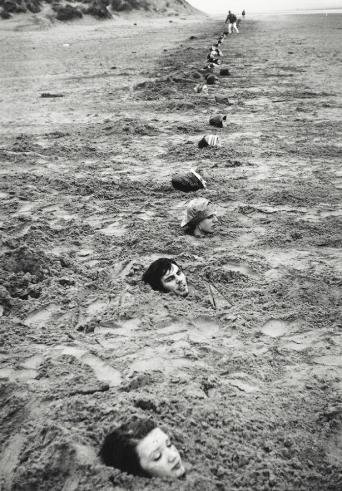 Keith Arnatt Liverpool Beach Burial, 1968 Vintage silver gelatin print, printed by the artist 10 1/4 x 7 1/8 inches Estat