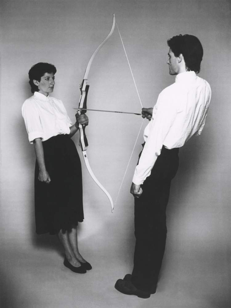 Marina Abramović's 'The Artist is Present': Marina Abramović & Ulay, Rest Energy in 1980. Photo Credit: Courtesy of HBO Docum