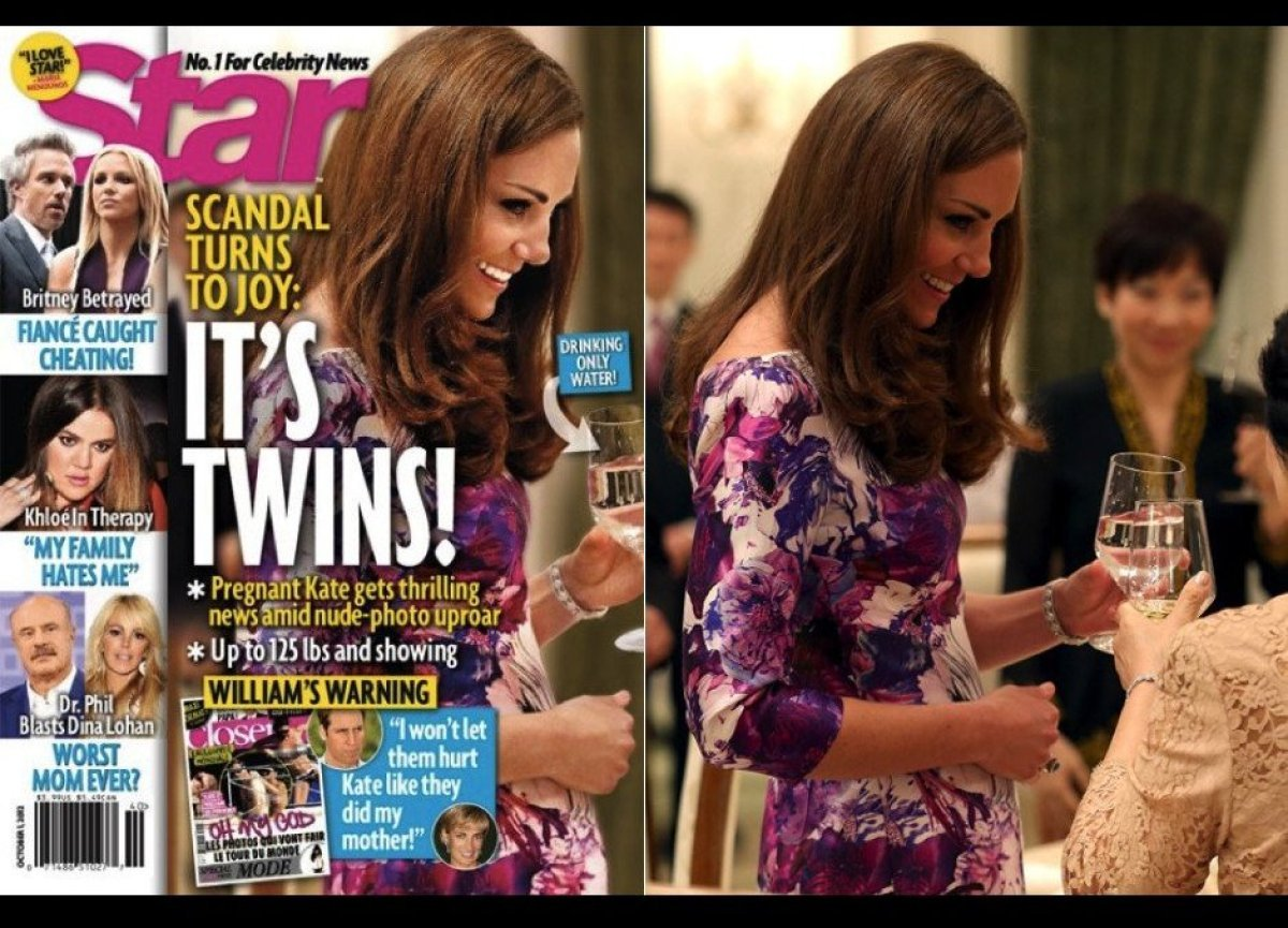 "Star breathlessly <a href=""http://www.huffingtonpost.com/2012/09/20/star-magazine-kate-middleton-pregnant-photoshop-baby-bump"