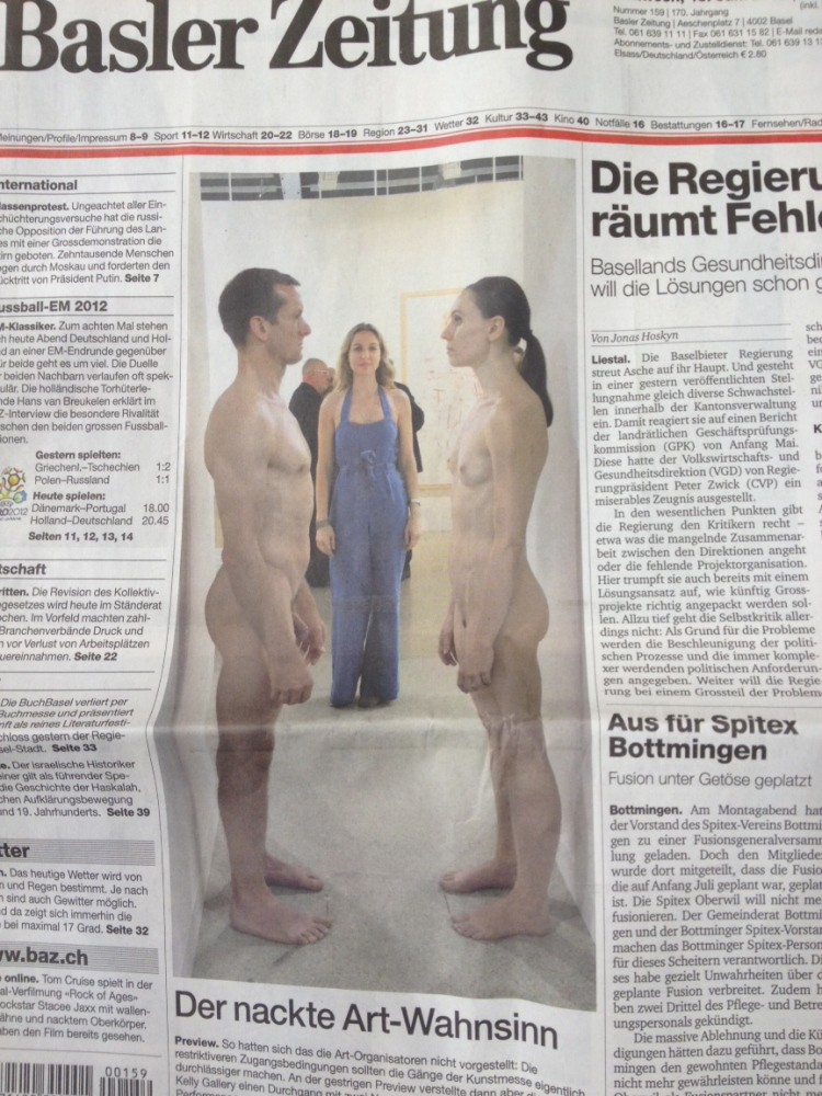 Good morning, looks like I made the front page of the Basel Newspaper!