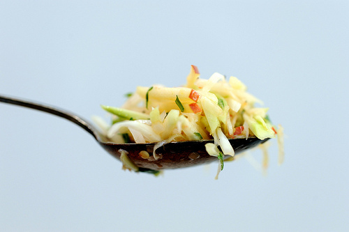 "<strong>Get the <a href=""http://food52.com/recipes/8689-kohlrabi-salad"" target=""_blank"">Kohlrabi Salad recipe from Food52</a>"