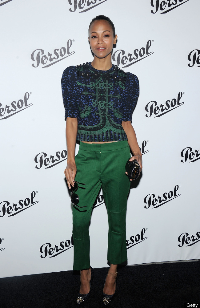 NEW YORK, NY - JUNE 13:  Zoe Saldana   attends Persol Magnificent Obsessions: 30 Stories Of Craftmanship In Film Event at Mus