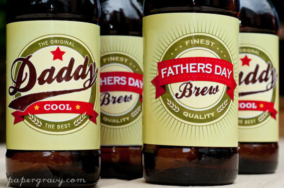These unique beer bottle labels are sure to give dad a smile as he grabs a celebratory Father's Day brew. 