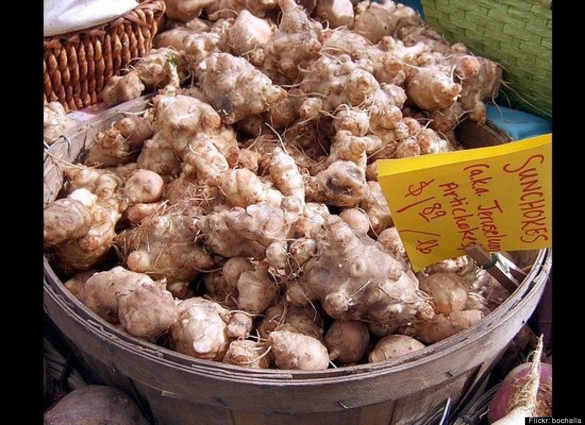 Also called sunchokes, these taste like a potato/artichoke hybrid and are best peeled with a vegetable peeler. <br><em>Photo
