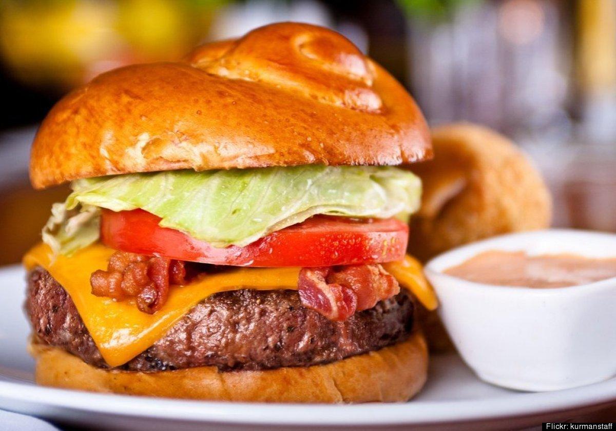 Markethouse Restaurant<br> 611 N. Fairbanks Ct.<br> Chicago <br> Markethouse Stuffed Angus Burger<br> Burger Mixture: Yi