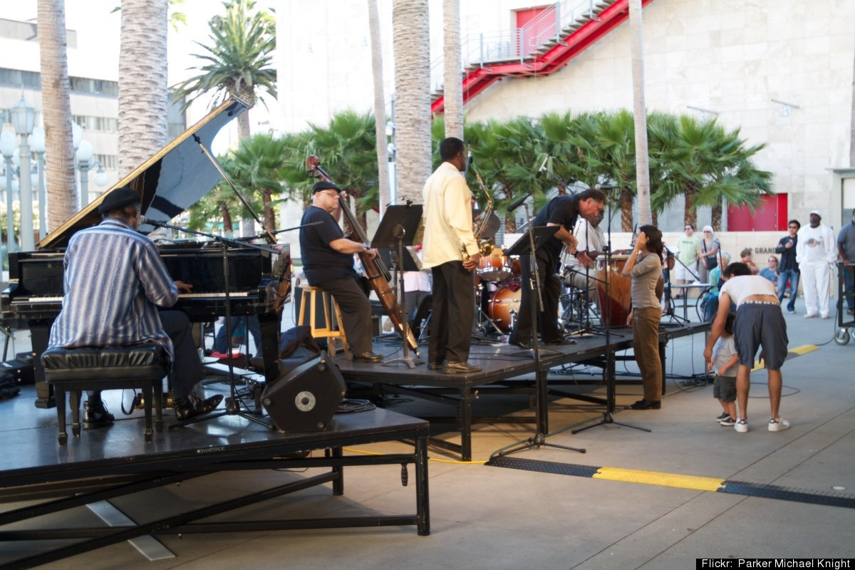 Begin the weekend by unwinding with a free jazz concert at LACMA.  After, split a flatbread at the Ray's & Stark Bar and/or p
