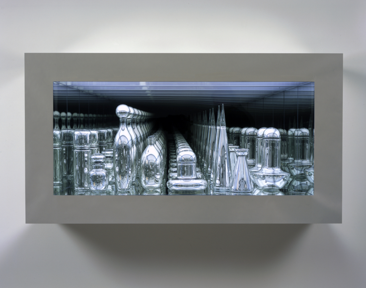 """""""Czech Modernism Mirrored and Reflected Infinitely"""", 2005. Handblown mirrored glass, transparent and industrial mirror, chrom"""