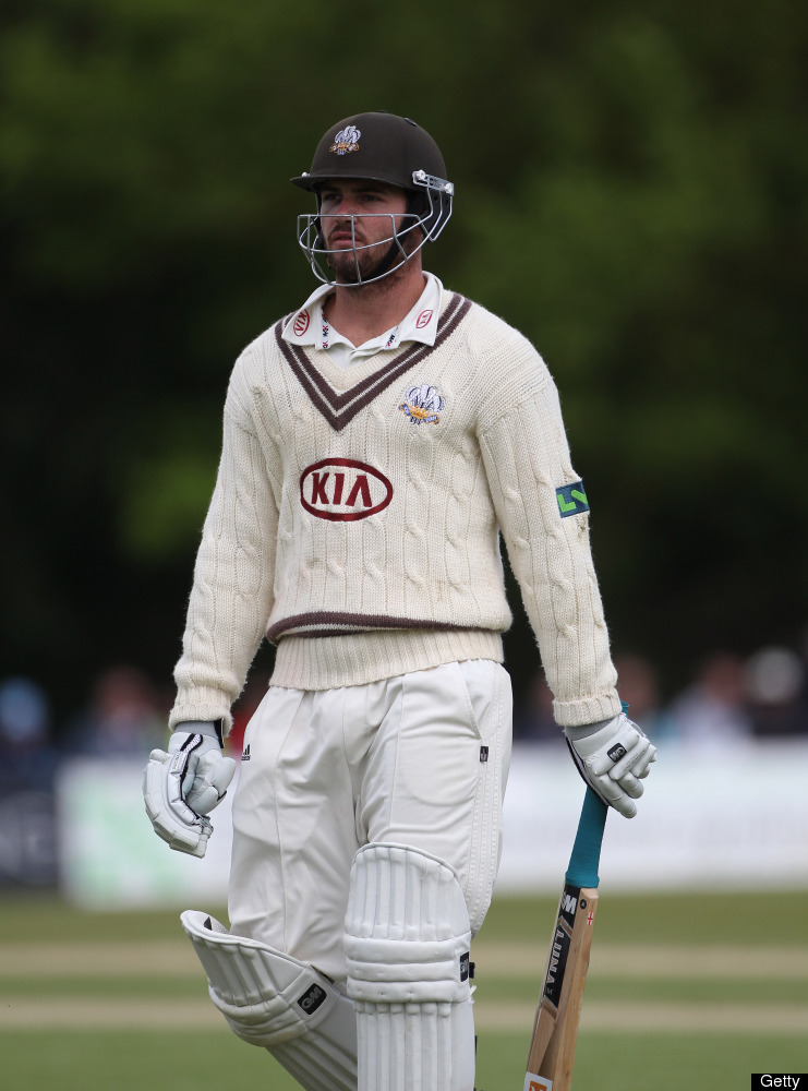HORSHAM, ENGLAND - JUNE 09:  Tom Maynard of Surrey walks off after his dismissal during day 4 of the LV= County Championship