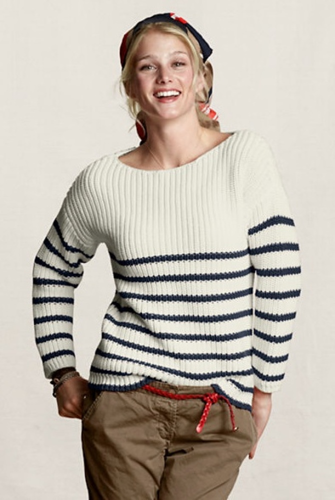 """Land's End Canvas Boatneck Striped Sweater, $16 at <a href=""""http://www.landsend.com/pp/StylePage-411195_95.html?amp;CM_MERCH="""