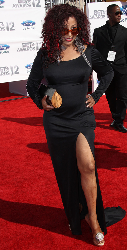 LOS ANGELES, CA - JULY 01: Recording artist Chaka Khan attends the BET Awards '12 at The Shrine Auditorium on July 1, 2012 in