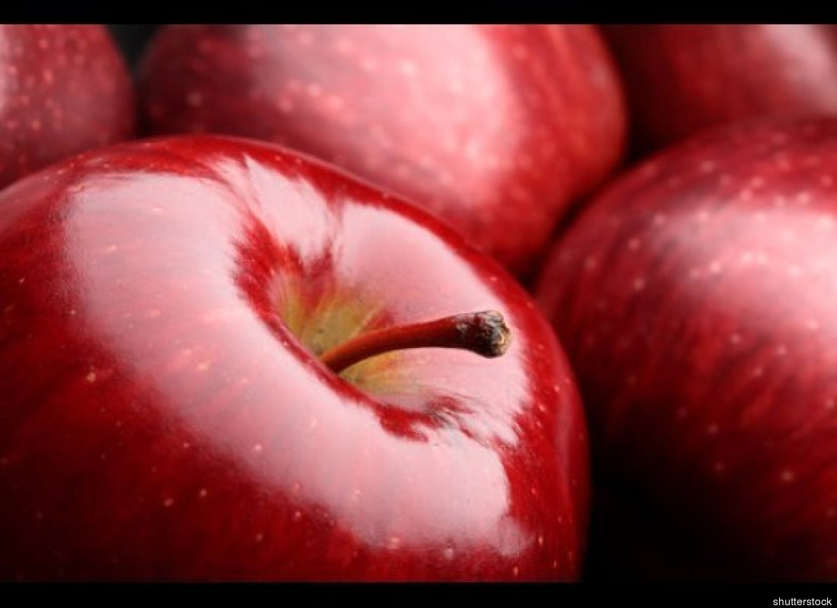 The most contaminated fruit, 98 percent of apples tested positively for pesticides.