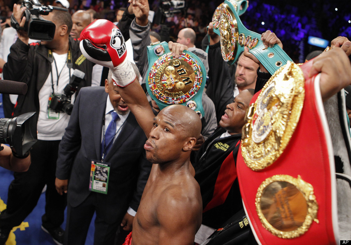 "Total Earnings: <a href=""http://www.forbes.com/pictures/mli45igdi/1-floyd-mayweather/#gallerycontent"" target=""_hplink"">$85 mi"