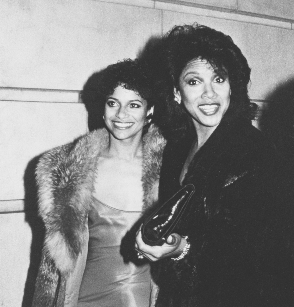 """Actresses Debbie Allen and Phylicia Rashad attending """"Kennedy Center Honors Awards"""" on December 2, 1984 at the Kennedy Center"""